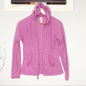 North face PolarTec full zip hooded fleece jacket